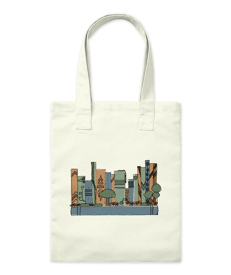 Book Town Tote Natural T-Shirt Front