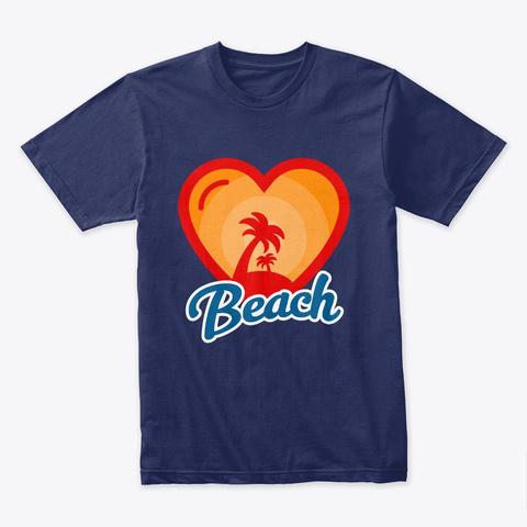 Beach Luv Palms Midnight Navy T-Shirt Front