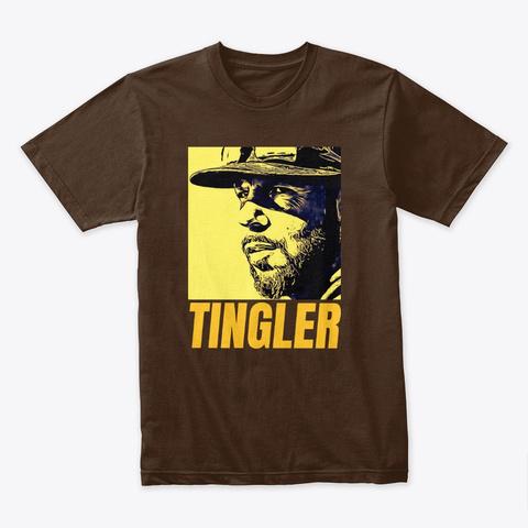 Jayce Tingler Friar Lounge Ylw Design Dark Chocolate T-Shirt Front