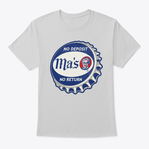 Vintage Ma's Cola Soda Bottle Cap Light Steel T-Shirt Front