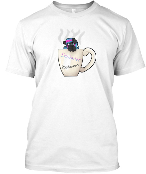 Scribbler   Cute Coffee Diver White T-Shirt Front