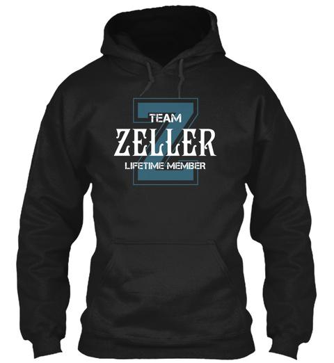 Team Zeller   Name Shirts Black T-Shirt Front