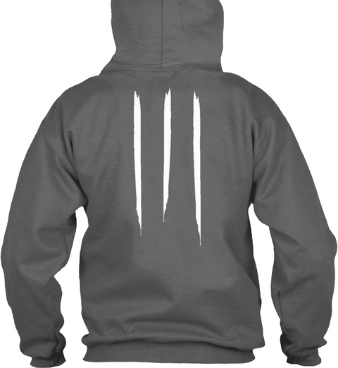 """Promotion Hoodie """"Apricot"""" Dark Heather T-Shirt Back"""