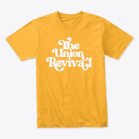 Retro Big Font Union Tee Gold T-Shirt Front