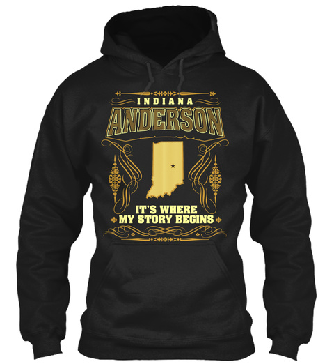 Indiana Anderson It's Where My Story Begins Black T-Shirt Front