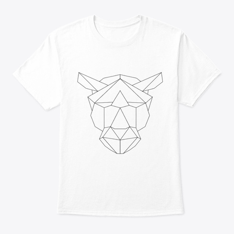 Graphic Tiger White T-Shirt Front