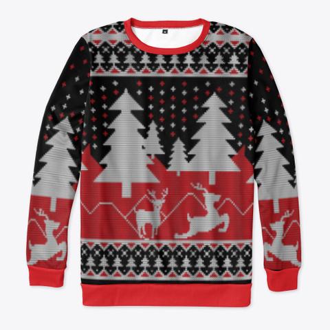 The Christmas Sweatshirt Black T-Shirt Front