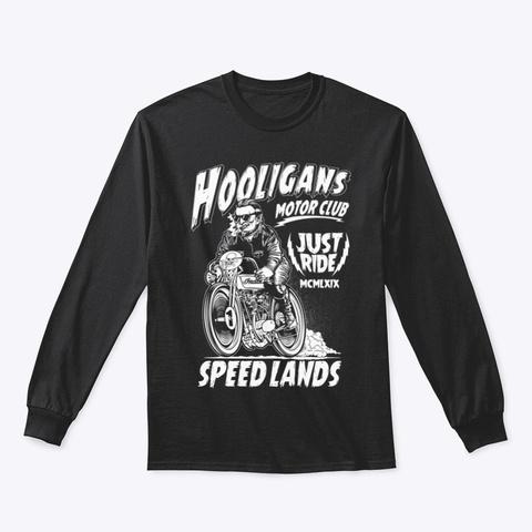 Motorcycle Hooligan Black T-Shirt Front