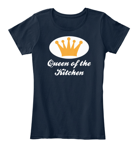 Queen Of The Kitchen New Navy T-Shirt Front