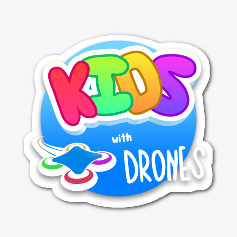 Kids With Drones Stickers Standard T-Shirt Front
