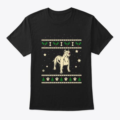 Christmas American Hairless Terrier Gift Black T-Shirt Front