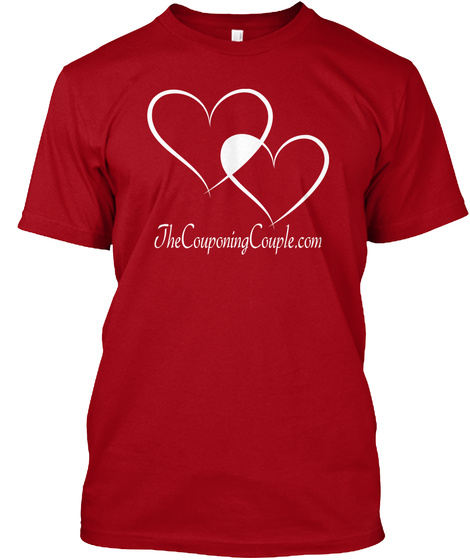 Jhecouponingcouple.Com Deep Red T-Shirt Front