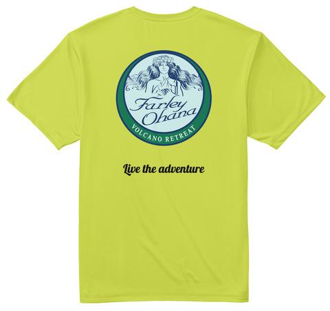 LiveTheAdventure Safety Green T-Shirt Back