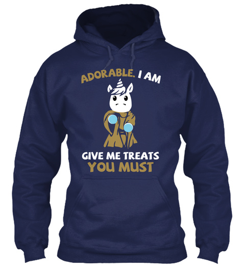 Adorable I Am Give Me Treats You Must Navy T-Shirt Front