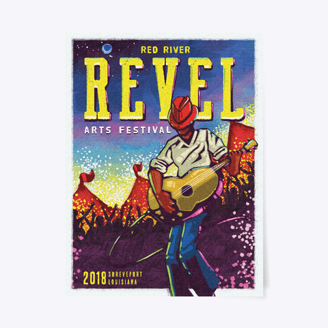 Red River Revel Arts Festival 2018 Standard T-Shirt Front