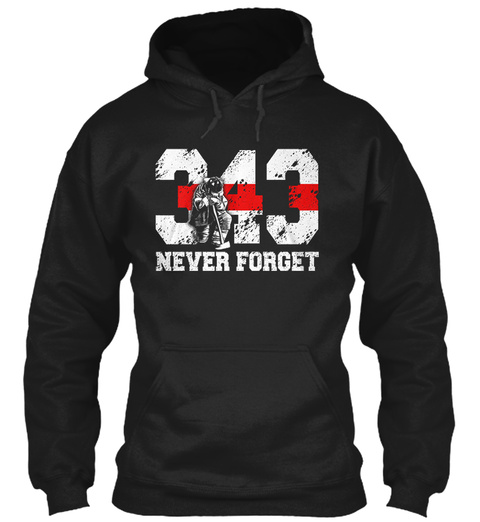 343 Never Forget Black T-Shirt Front