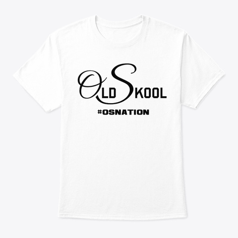 #Osnation Jersey Style Apparel White T-Shirt Front
