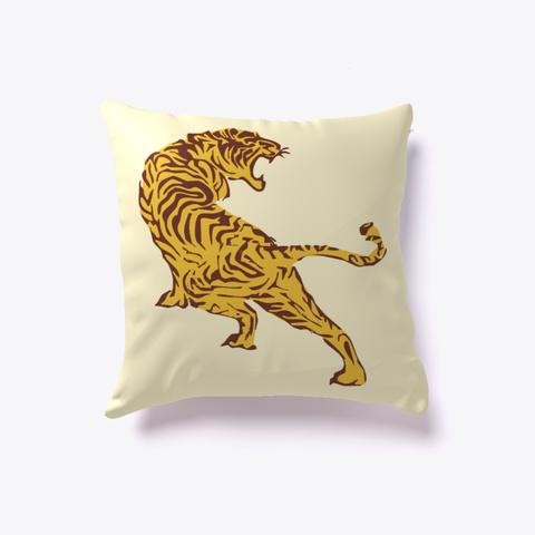 Tiger Pets Pillow Light Yellow T-Shirt Front