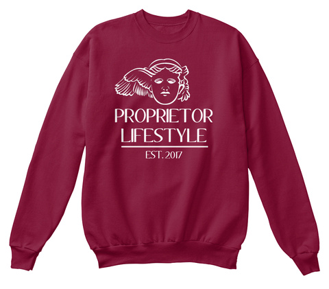 Proprietor Lifestyle Est. 2017 Cardinal  Sweatshirt Front