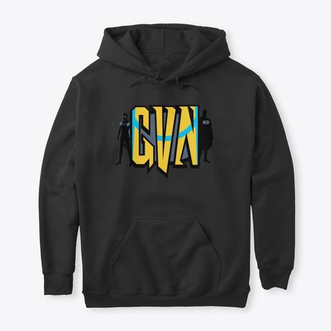 Gvn Is Invincible  Black T-Shirt Front