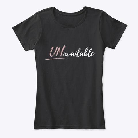 U Navailable Black T-Shirt Front