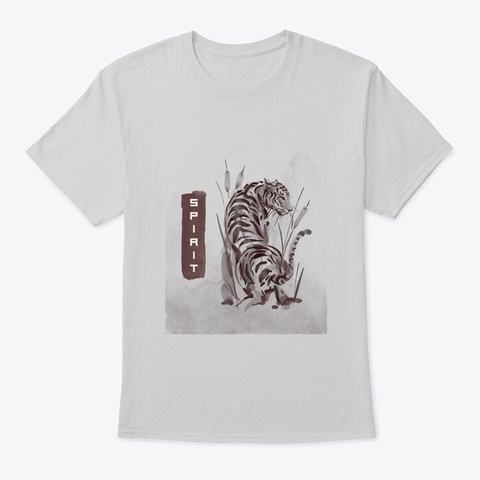 Tiger Spirit Tee Light Steel T-Shirt Front