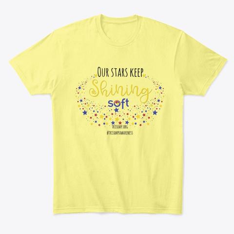 2020 Soft Trisomy Awareness Shirt Lemon Yellow  T-Shirt Front