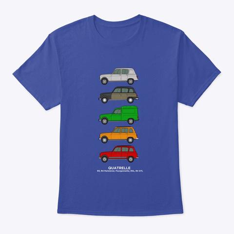 Renault 4 Quatrelle Collection Deep Royal T-Shirt Front