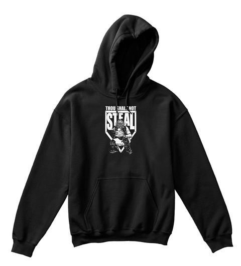 Thou Shalt Not Steal Black T-Shirt Front