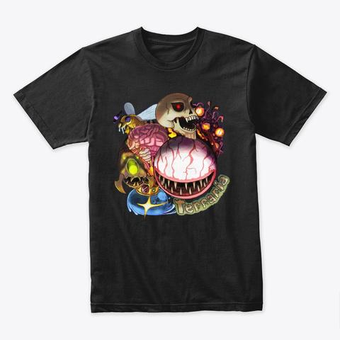 Boss Rush – Terraria Merchandise Black T-Shirt Front