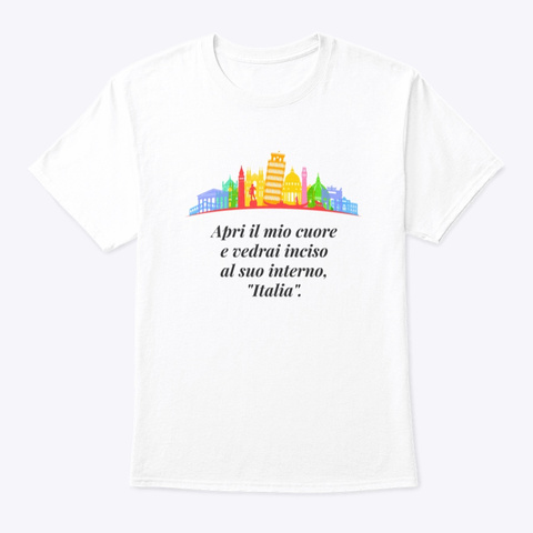 Italia   1 White T-Shirt Front