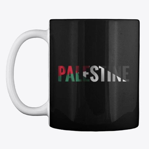 Palestine Flag Name  فلسطين Black T-Shirt Front