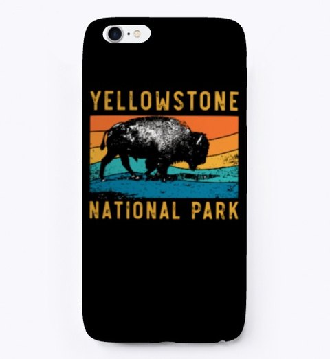 Vintage Yellowstone National Park Gifts Black T-Shirt Front