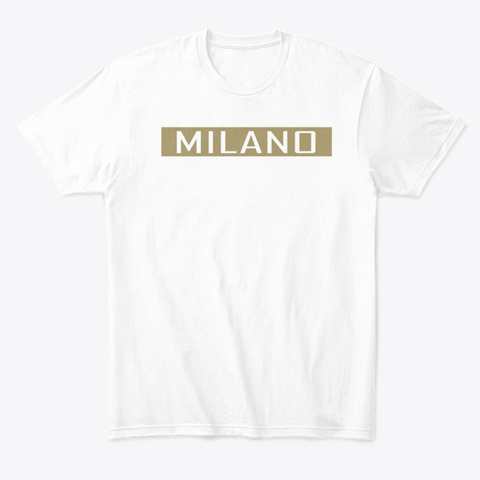 Milano Collection (Gold) White T-Shirt Front