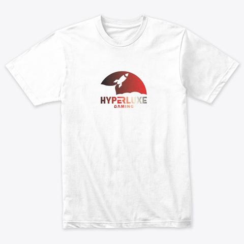 Hyperluxe Rocket Ship Heather White T-Shirt Front