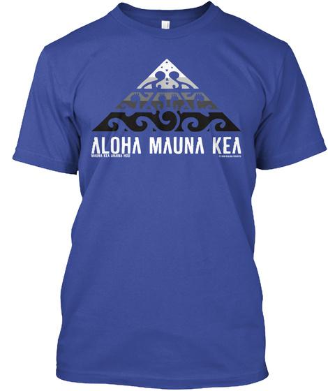 Aloha Mauna Kea Deep Royal T-Shirt Front