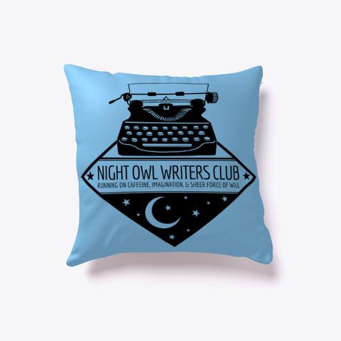 Night Owl Writers Club Light Blue T-Shirt Front