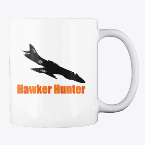 Hawker Hunter White T-Shirt Back