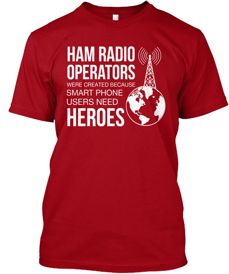 Ham Radio Shirt Sweatshirt Deep Red Maglietta Front