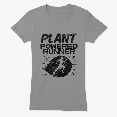 Vegan Runner Premium Heather T-Shirt Front