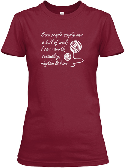 T Shirt For Yarn Lovers Cardinal Red T-Shirt Front