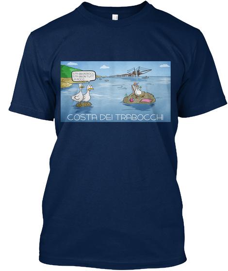 Costa Dei Trabocchi Navy T-Shirt Front