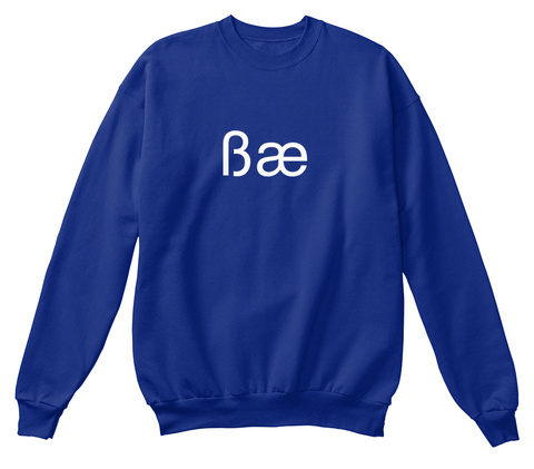 Bae Deep Royal  T-Shirt Front