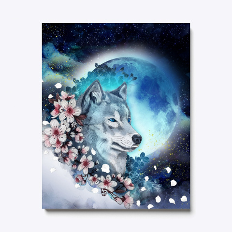 Wolf In The Moonlight Christmas Standard T-Shirt Front