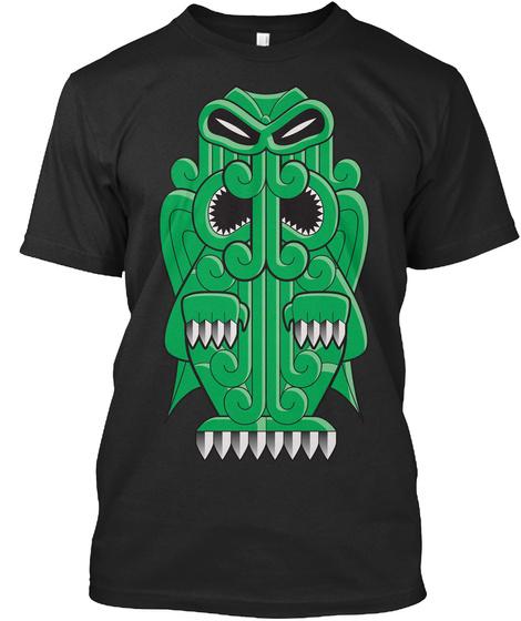 Tiki   Cthulhu Black T-Shirt Front
