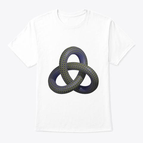 Trefoil Knot White T-Shirt Front