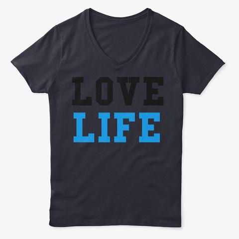 Love Life By: Lisa Guzman Navy T-Shirt Front
