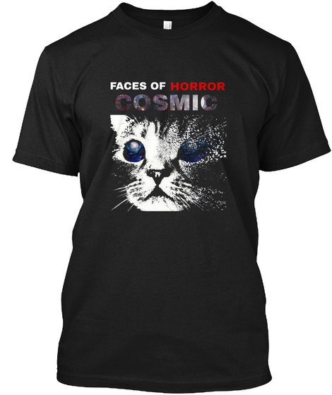 Smm Faces Of Horror: Cosmic Black T-Shirt Front