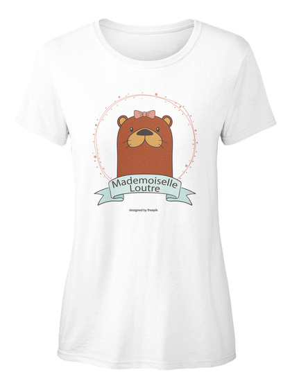Mademoiselle Loutre White T-Shirt pour Femme Front