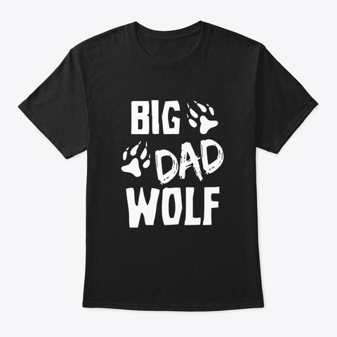 Big Dad Wolf Costume Halloween Daddy Black T-Shirt Front